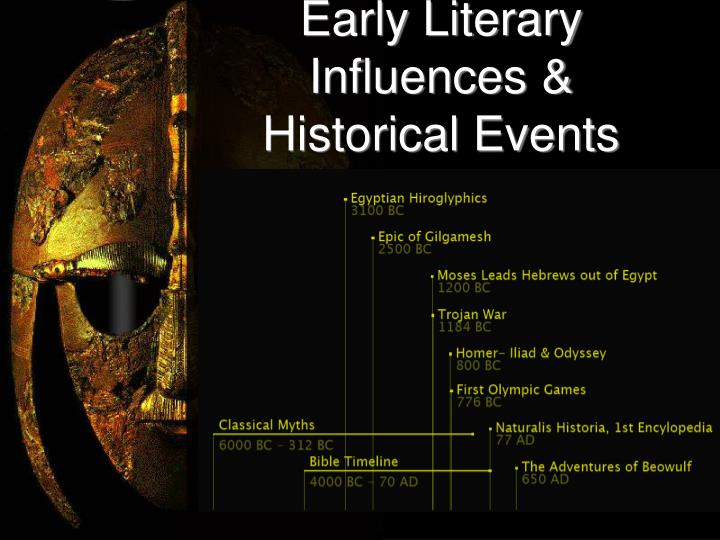 Early literary influences historical events