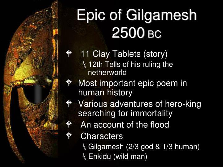 Epic of gilgamesh 2500 bc