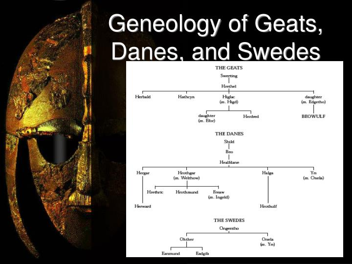 Geneology of Geats, Danes, and Swedes