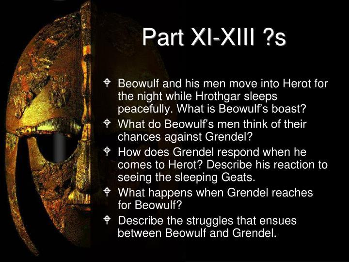 Part XI-XIII ?s