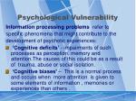 psychological vulnerability