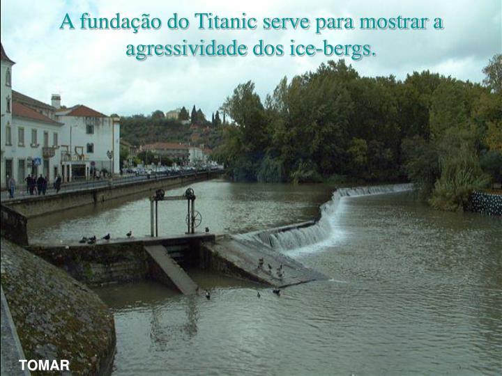 A fundação do Titanic serve para mostrar a agressividade dos