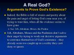 a real god arguments to prove god s existence1