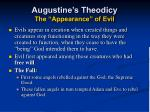 augustine s theodicy the appearance of evil