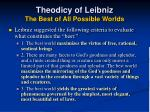 theodicy of leibniz the best of all possible worlds2