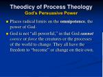 theodicy of process theology god s persuasive power