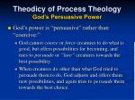 theodicy of process theology god s persuasive power1