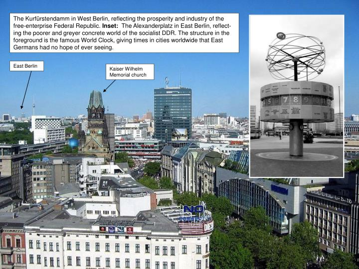 The Kurfürstendamm in West Berlin, reflecting the prosperity and industry of the free-enterprise Federal Republic.
