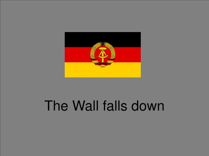 The Wall falls down