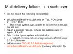 mail delivery failure no such user1