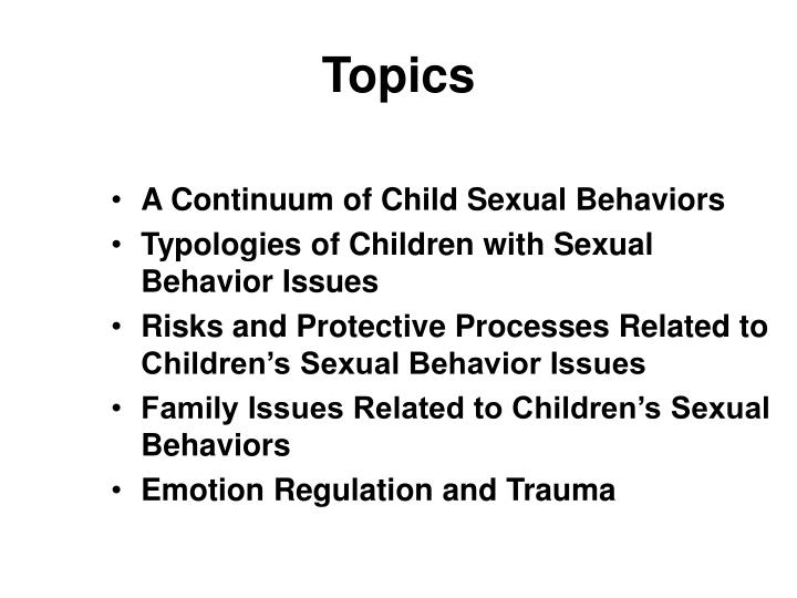 the deviant sexual behavior and child The impact of the internet on deviant behavior and deviant communities (ie, sexual deviance, self-harm groups  the vast proliferation of online child.
