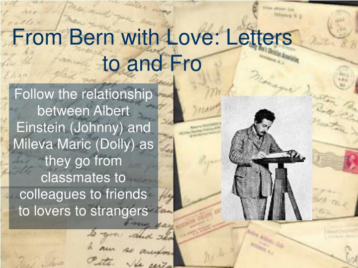 from bern with love letters to and fro n.