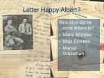 letter happy albert2