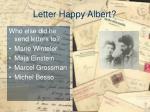 letter happy albert3