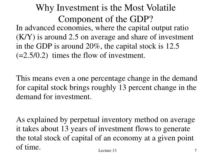 Why Investment is the Most Volatile Component of the GDP?