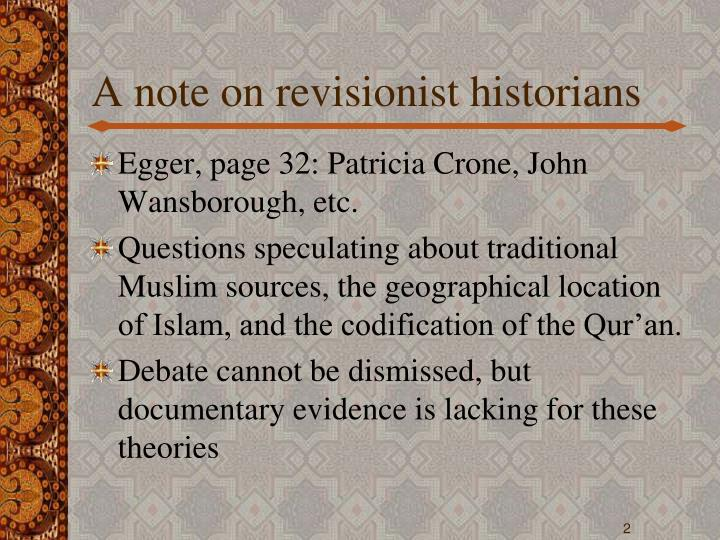 A note on revisionist historians