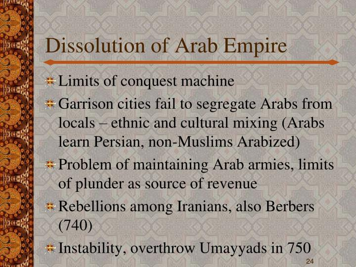 Dissolution of Arab Empire