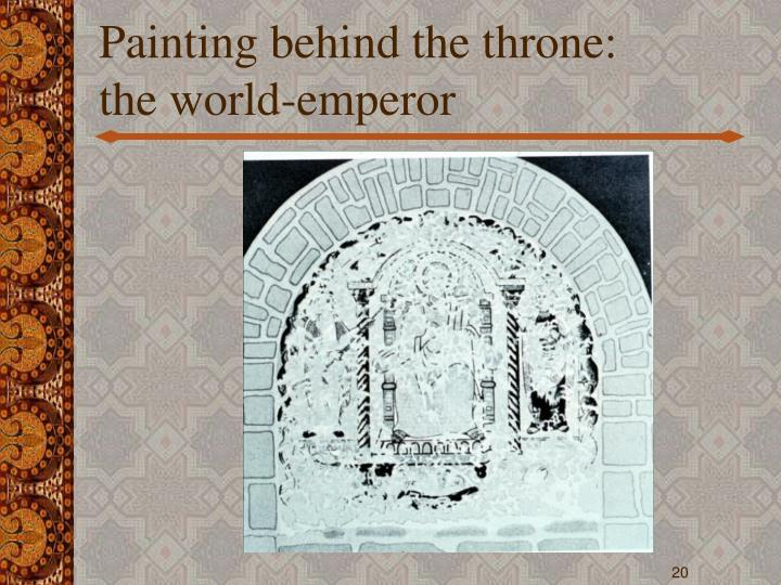 Painting behind the throne: