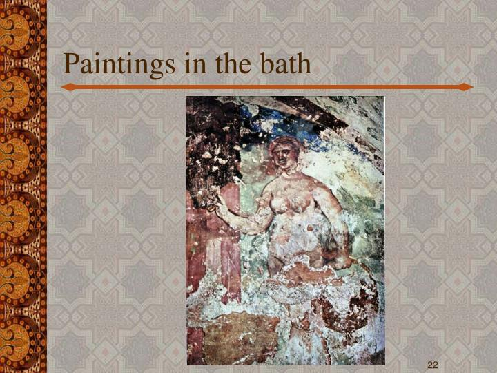Paintings in the bath