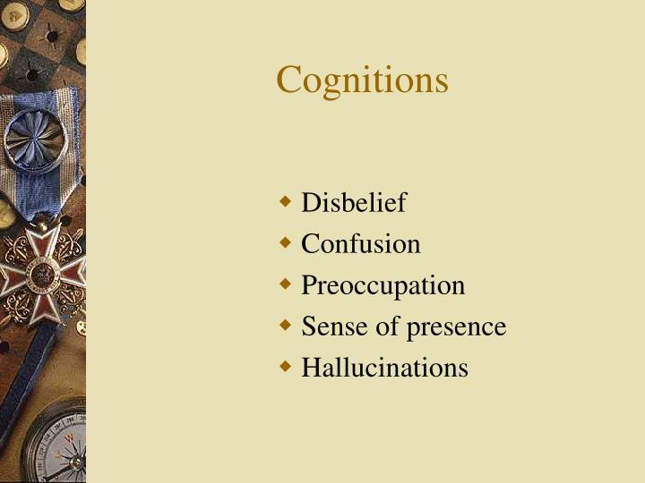 Cognitions