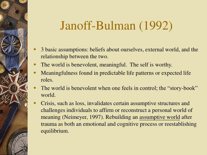 Janoff-Bulman (1992)