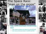 the space race man on the moon