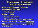 contemporary containment reagan doctrine 1981