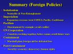 summary foreign policies