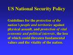 us national security policy