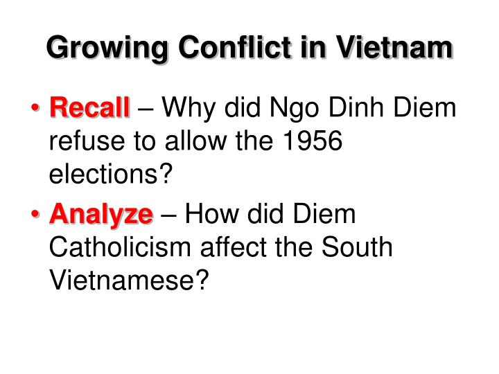 Growing Conflict in Vietnam