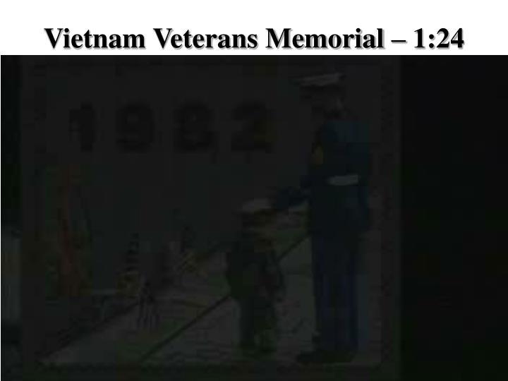 Vietnam veterans memorial 1 24