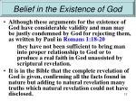 belief in the existence of god10