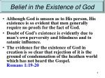 belief in the existence of god2