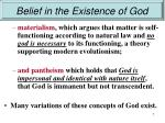 belief in the existence of god5