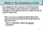 belief in the existence of god6