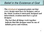 belief in the existence of god8