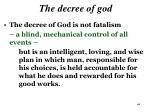 the decree of god3