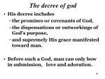 the decree of god5