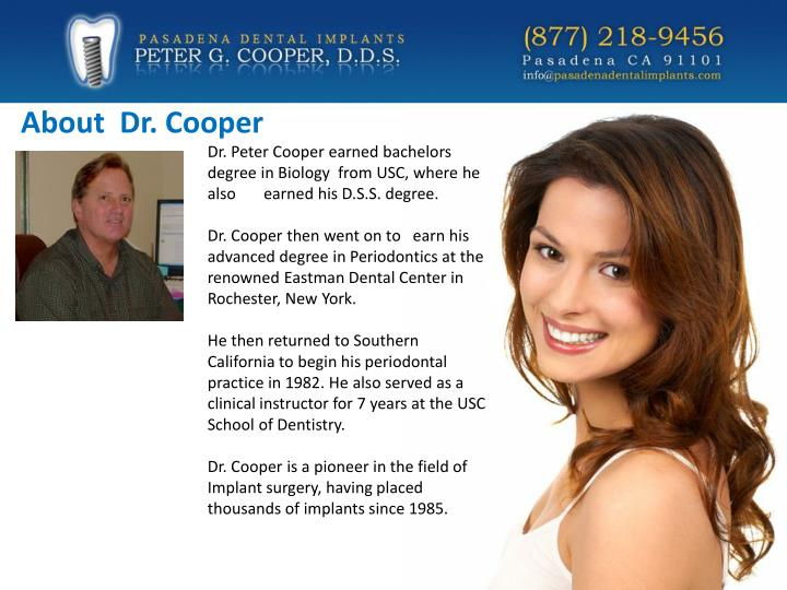 About  Dr. Cooper