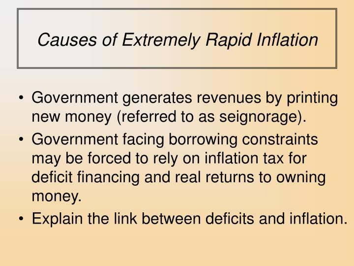 Causes of Extremely Rapid Inflation