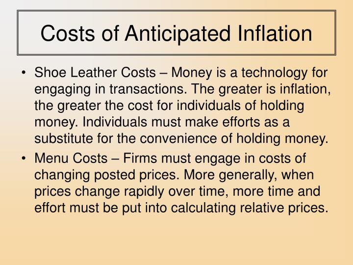 Costs of Anticipated Inflation