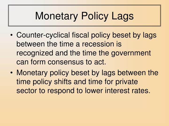 Monetary Policy Lags