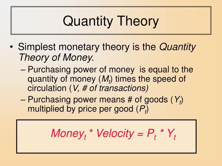 Quantity Theory