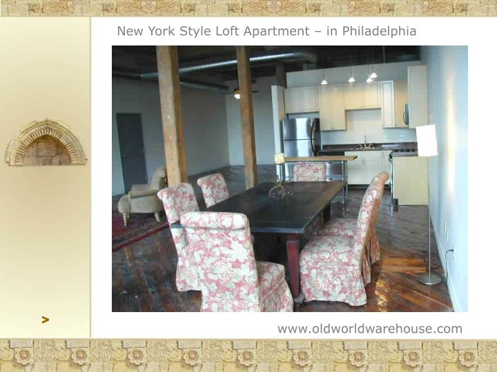 New York Style Loft Apartment – in Philadelphia