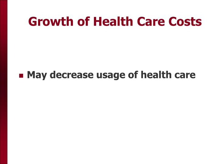 Growth of Health Care Costs