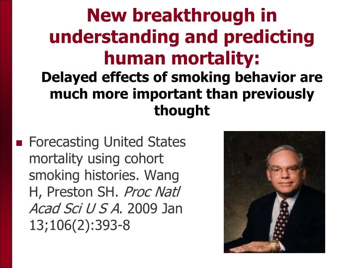 New breakthrough in understanding and predicting human mortality: