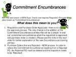commitment encumbrances