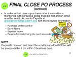 final close po process continued2