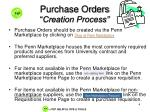 purchase orders creation process