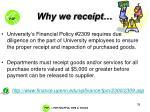 why we receipt